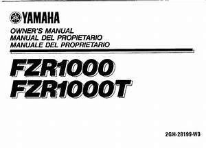 Yamaha Fzr1000 T 1987 Owner U2019s Manual
