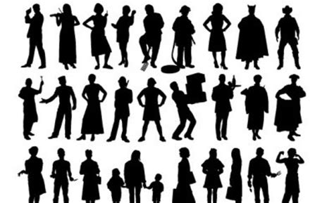 vector silhouette people vector art ai svg eps vector