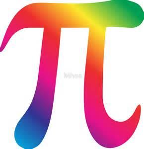 Colorful Pi Symbol
