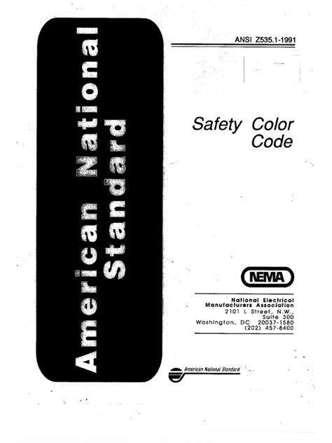 Maybe you would like to learn more about one of these? ANSI Z535.-1991-Safety Color Code