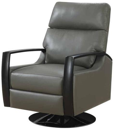 cosmopolitan gray leather swivel recliner u1209 04 33