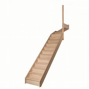 Escalier 1 4 Tournant Gauche : escalier 1 4 tournant haut avec contremarches sans rampe escaliers ~ Dode.kayakingforconservation.com Idées de Décoration