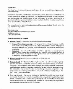 5 cleaning proposal examples samples With letter for cleaning services