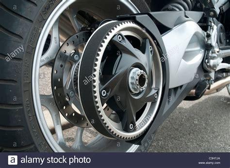 Motorcycle Belt Drive Stock Photo