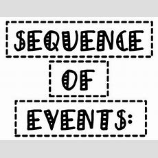 Sequence Of Events And Transitional Word Examples Anchor Charts Tpt