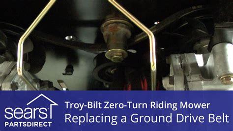 replace  troy bilt  turn riding mower ground