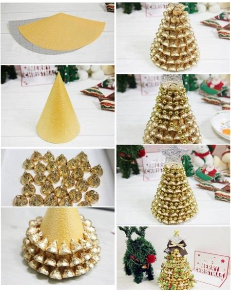 diy gold hershey kisses tree pictures   images