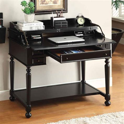 black desk with drawers choice black writing desk with drawers all office