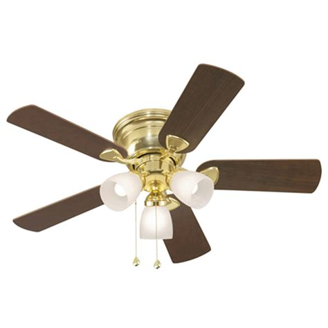 lowes ceiling fans with lights shop harbor breeze centreville 42 in polished brass flush