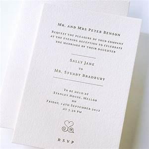 letterpress printed wedding invitation die cut embossed With wedding invitations printers uk