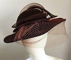 Avant Garde Vintage Bollman Brown Wool Hat w/ Net and ...