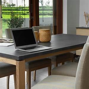 Table A Manger Beton : table de salle manger uleg ch ne massif b ton ~ Teatrodelosmanantiales.com Idées de Décoration