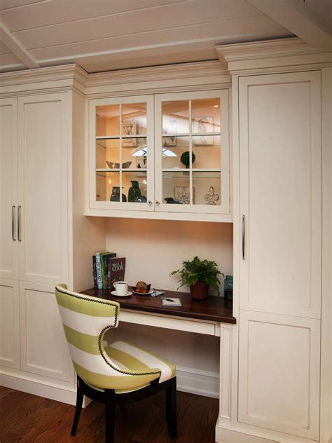 Built In Desk Cabinets by Built In Multifunctional Kitchen Desk Hgtv