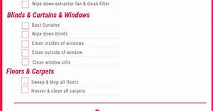 End Of Lease Cleaning Checklist Guide