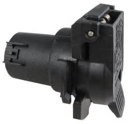 Pollak 11-916V RV OEM-Style Twist and Lock 7-Way Socket