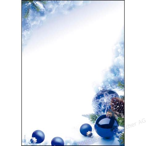 sigel dp weihnachtsbriefpapier  blue harmony