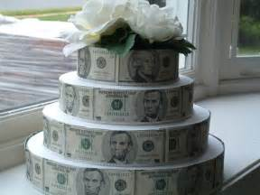 Birthday Cake Made Out of Money