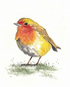 Robin in the Grass - ORIGINAL Watercolor Painting - 8x10 ...