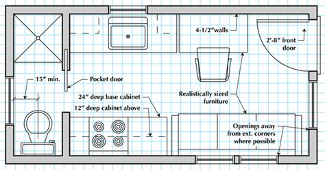 How To Draw Kitchen Floor Plans by How To Draw A Tiny House Floor Plan
