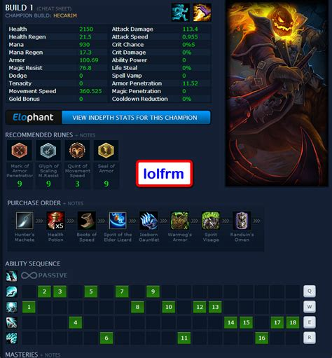 Summary Jax Build S9 Runes Item Build Skill Order And Stats
