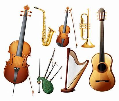 Instruments Different Musical Types Vector Cello Violin