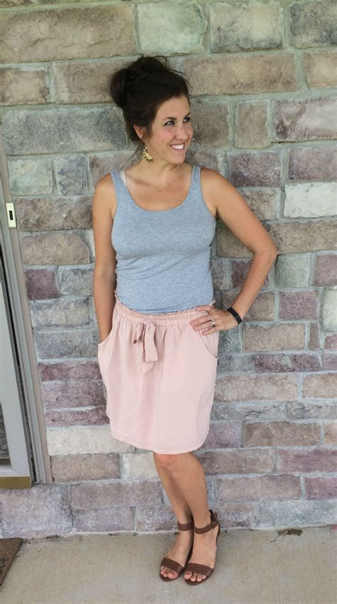 What I Wore Real Mom Style Rose Bow Front Skirt