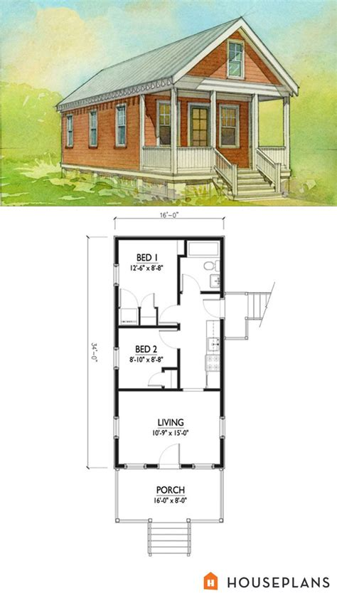 small 1 house plans small cottage house plan 500sft 2br 1 bath by