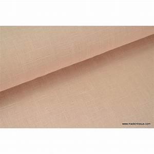 Tissu Rose Poudré : tissu en lin au coloris rose poudr pour confection habillement ~ Teatrodelosmanantiales.com Idées de Décoration