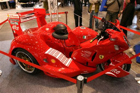Ferrari-themed Suzuki Hayabusa Trike Grabs Your Attention