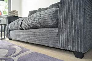 Cord Sofa : dylan 3 seater sofas in grey jumbo cord fabric sofa ~ Pilothousefishingboats.com Haus und Dekorationen