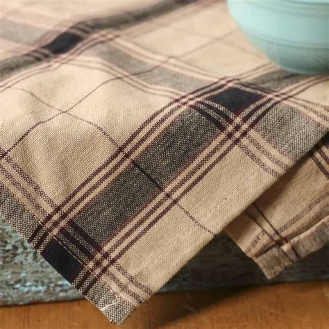 black  tan plaid cotton dish towel kitchen towels