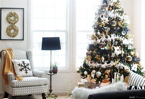 christmas tree living room bold neutral glam christmas tree in the living room this is our bliss