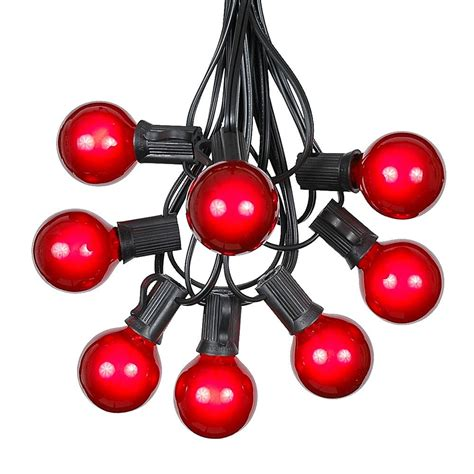 c9 led lights replacement bulbs 100 g40 globe outdoor string light set on black
