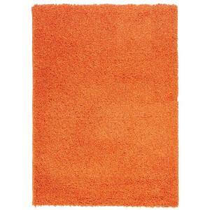 berrnour home plush solid shaggy orange  ft   ft shag