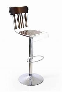 Tabouret De Bar Marron : tabouret de bar r glable acrylique bistrot bois marron mobilier ~ Melissatoandfro.com Idées de Décoration