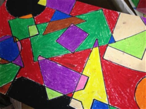 Abstract Painting Using Shapes by The Smartteacher Resource Mondrian Pastels