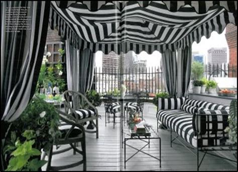 black and white patio curtains outdoor spaces