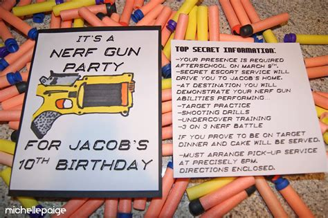 related keywords suggestions  nerf war party invitations