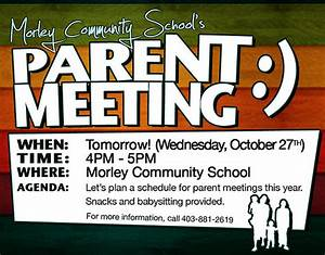parent meeting flyer With parent flyer templates