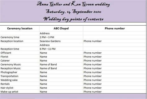 wedding day itinerary template 35 beautiful wedding guest list itinerary templates