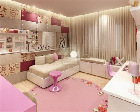 Bedrooms For Teenage Girls Pink Shades  Design Bookmark #4690
