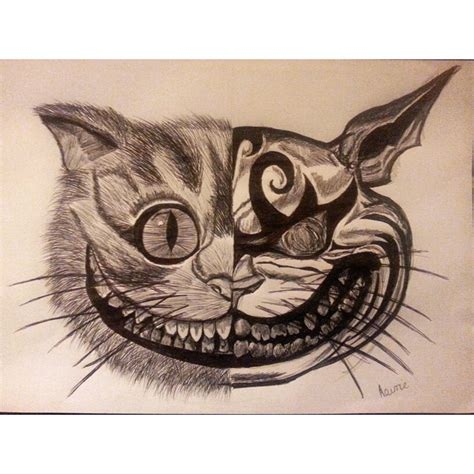 biro drawing  cheshire cat amycurrieartbyamys blog
