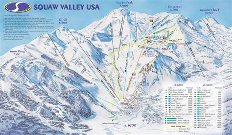squaw valley ski resort map