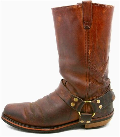 mens brown leather motorcycle boots mens harness motorcycle biker boots size 10 ee brown
