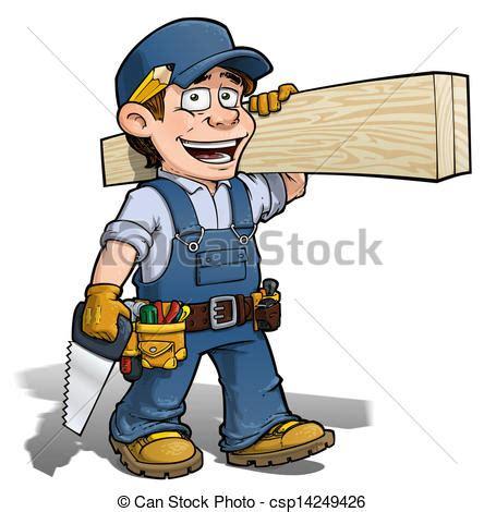 Clip Art Von Blaues, Heimwerker, , Zimmermann Cartoon