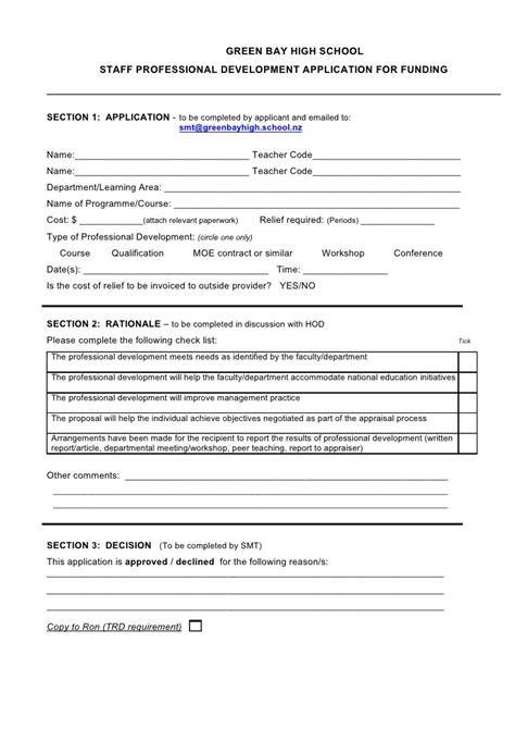pd application form