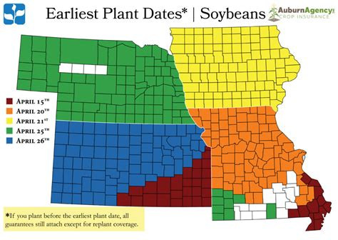 Compare salaries for insurance underwriters in different locations. Soybeans - Earliest Plant Dates Map - Auburn Agency Crop Insurance
