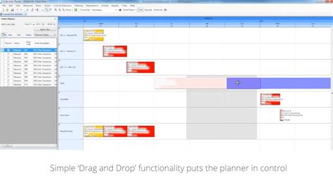 access planning scheduling drag  drop gantt chart