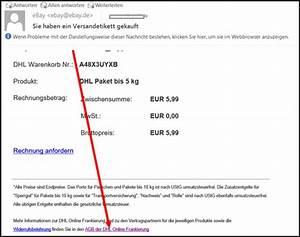 Dhl Online Frankierung Rechnung : ebay versandkosten r ckerstatten paket dhl online ~ Themetempest.com Abrechnung