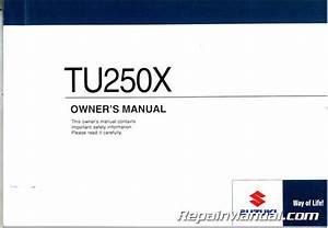 Suzuki Tu250x Service Manual Pdf